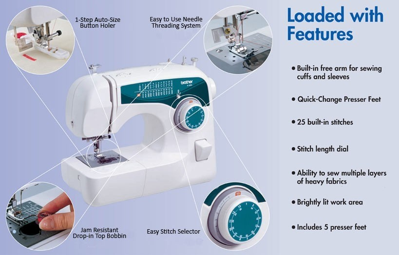 Brother xl2600i sewing machine instructions for Machine a coudre xl 2600 brother